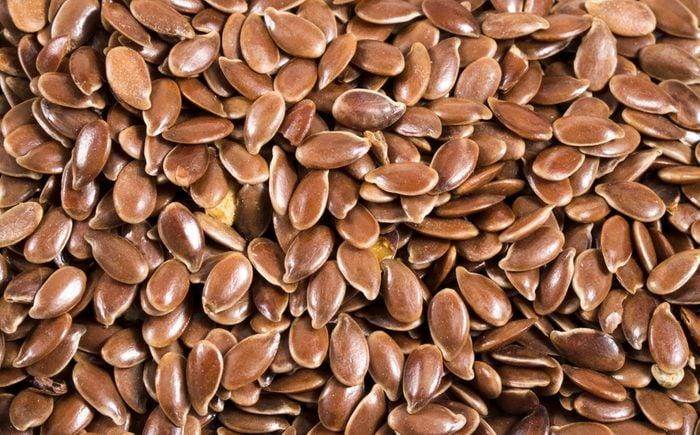flax seeds close-up