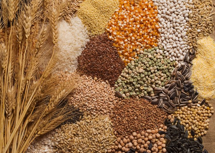 Cereal grains , seeds, beans