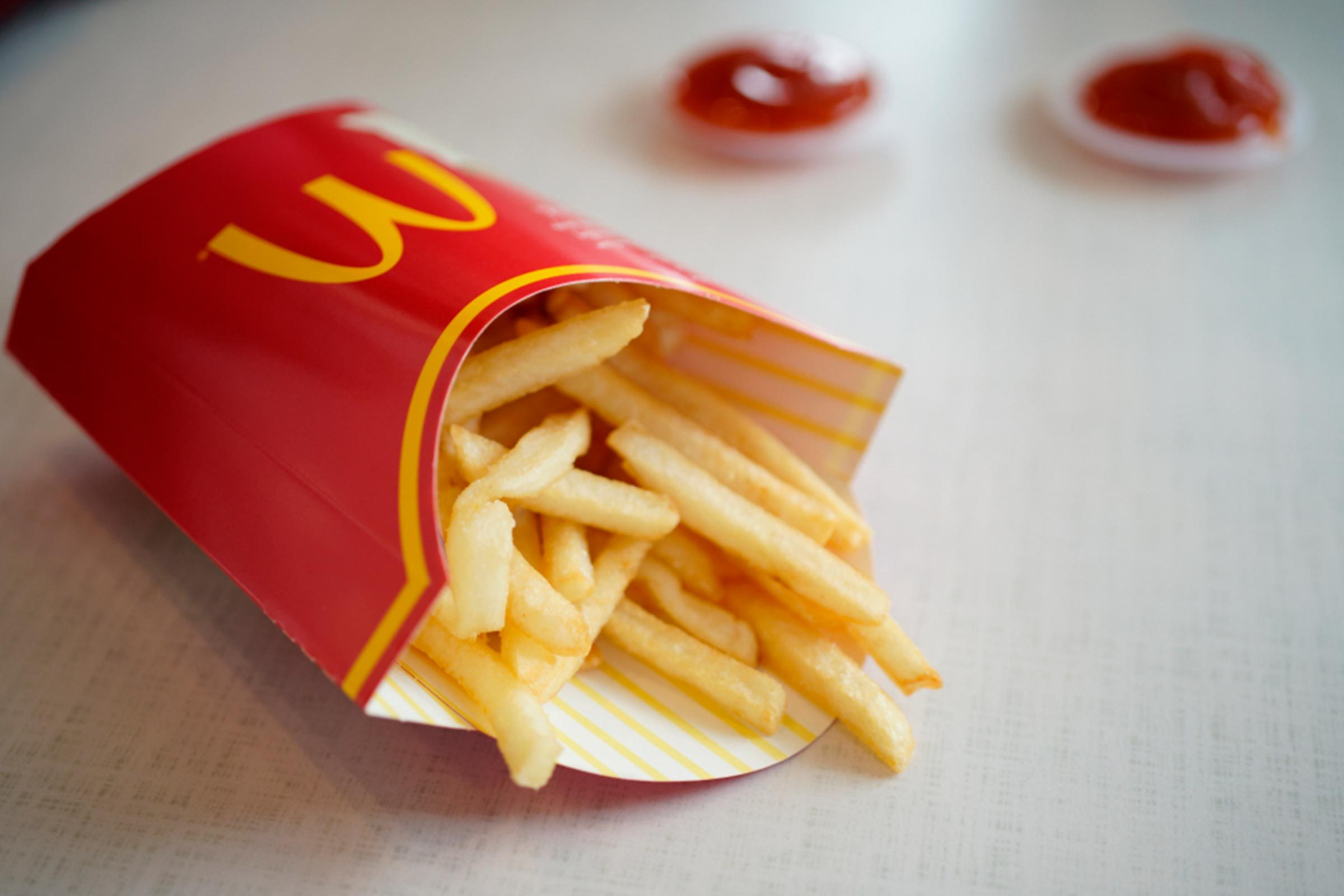 Fresh fries, fast food