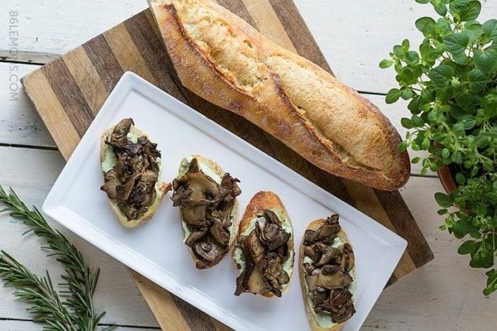 vegan Mushroom Crostini