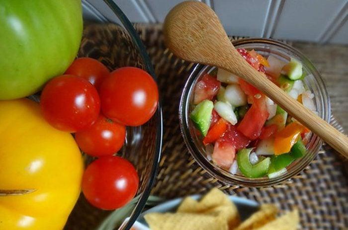 cucumber zucchini summer salsa