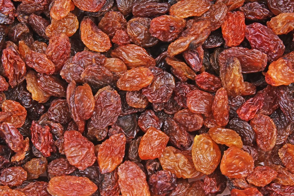 Raisins as background Grape Raisin texture.