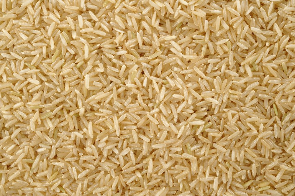 Brown rice background texture