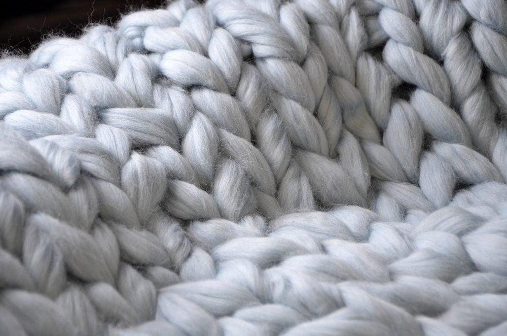 closeup of blanket