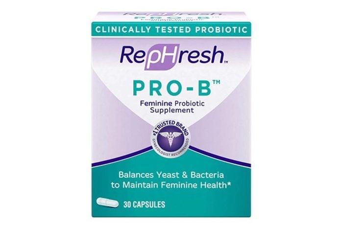 RepHresh Pro-B Probiotic Supplement for Women.