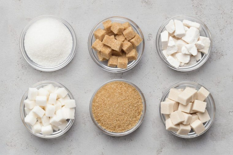 collection of different sugar
