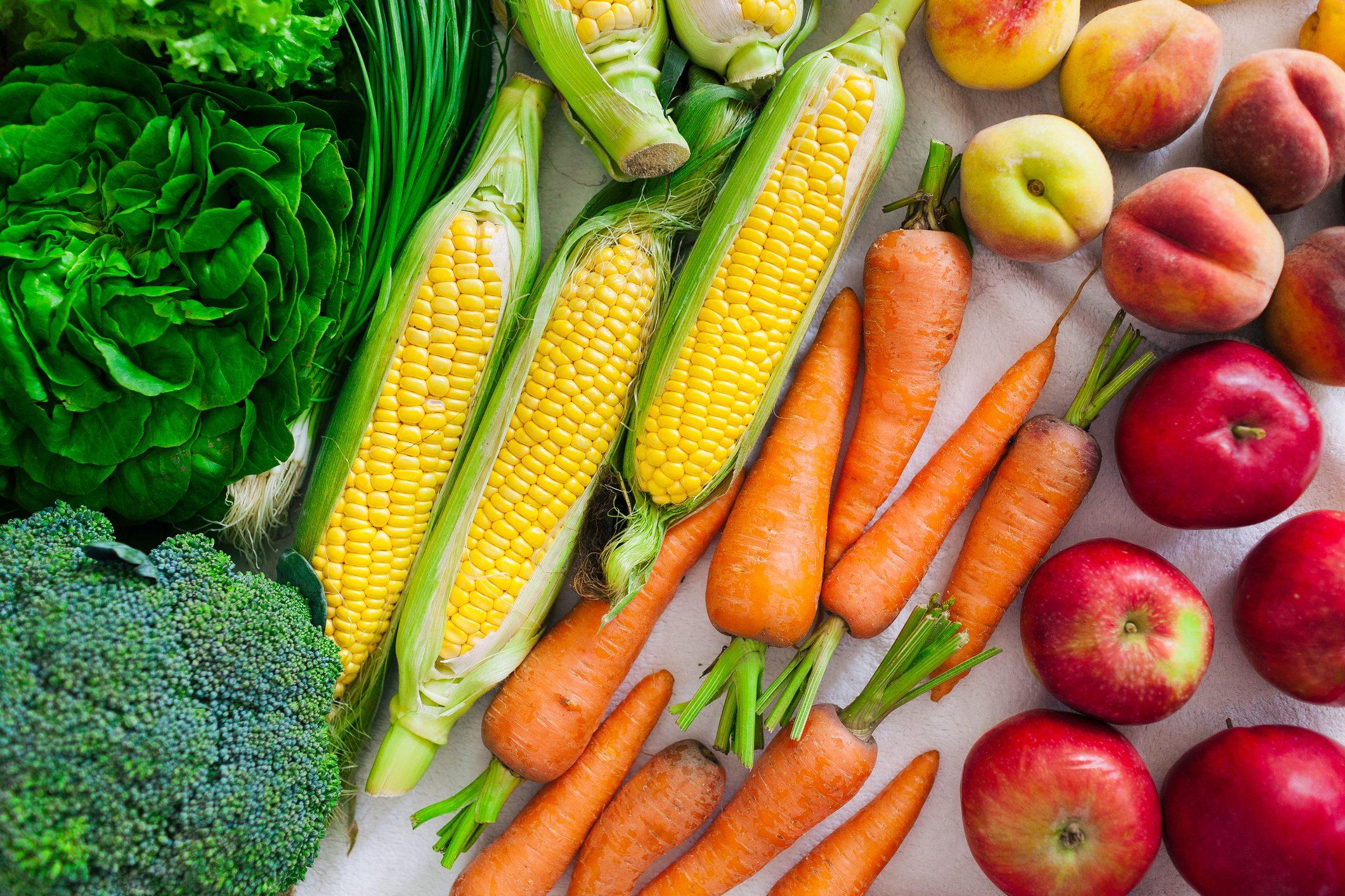 variety of vegetables full frame