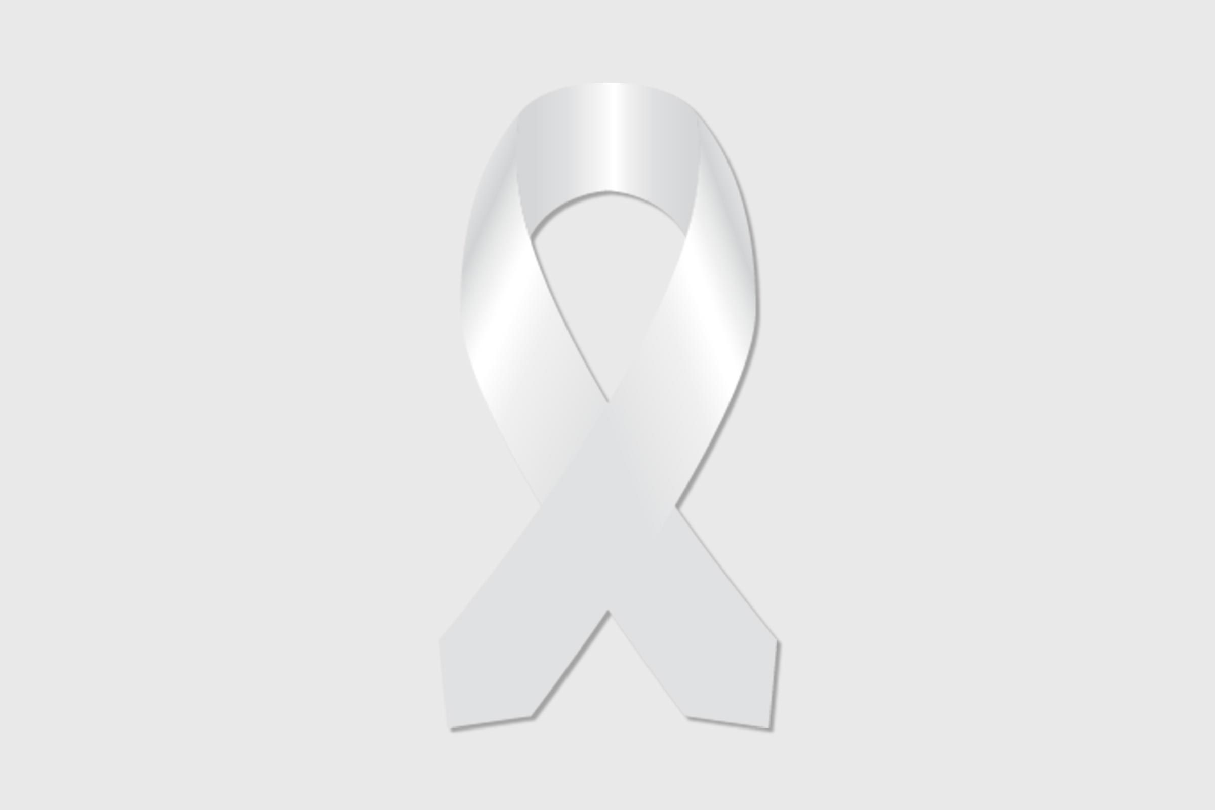 white ribbon for lung cancer