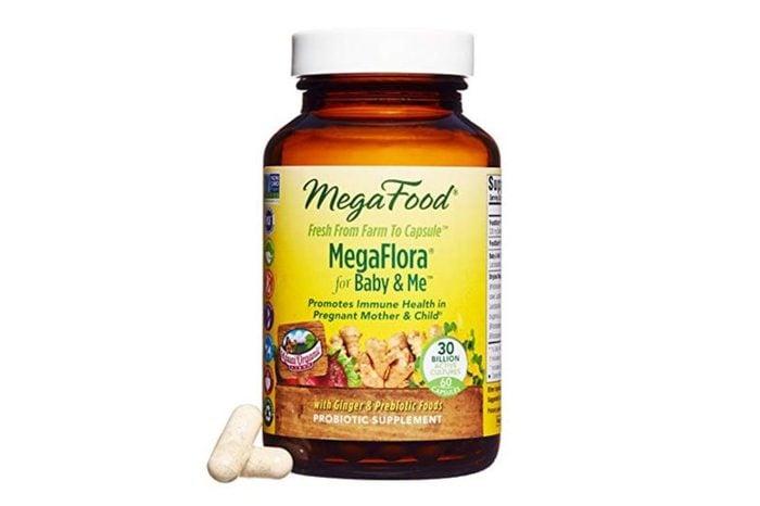 MegaFood brand MegaFlora for Baby & Me Probiotic.