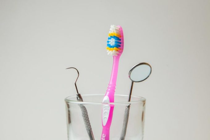 toothbrush holder dental tools