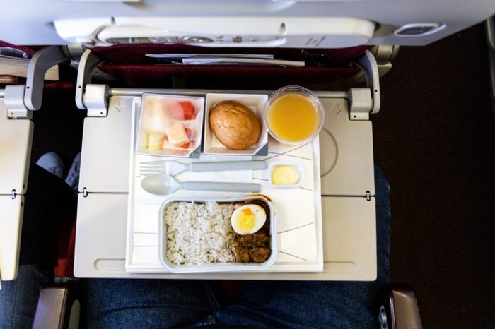 airplane airline food top view meal plane