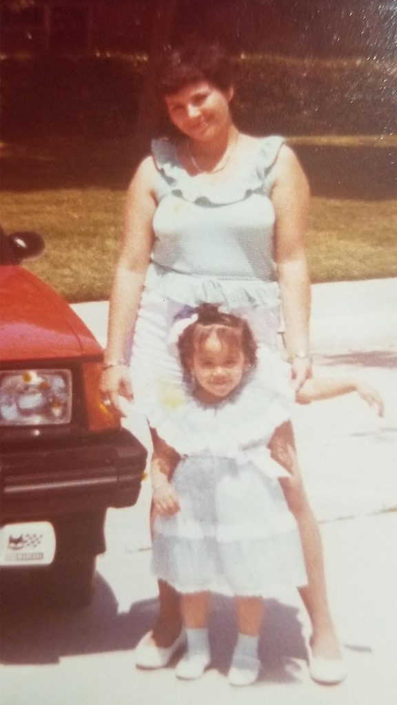 Bertha Loaiza and her mother