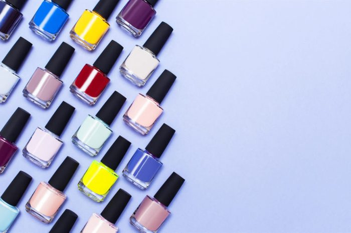 chemical nail polish different colors options