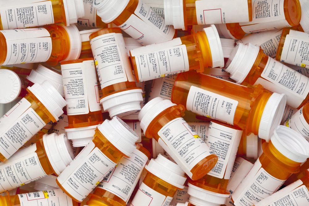 prescription medication bottles