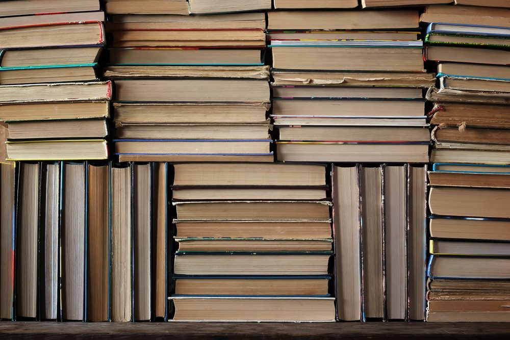 Background from books. Books close up.