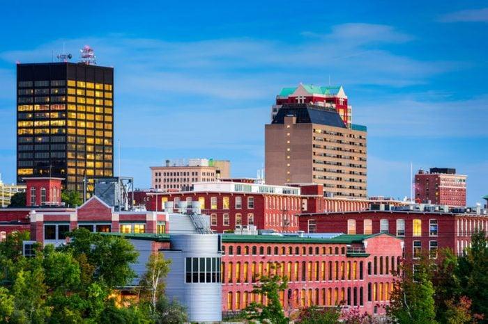 Manchester, New Hampshire, USA skyline.