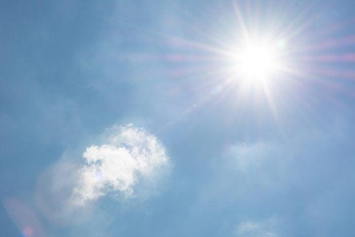 sun flare sky
