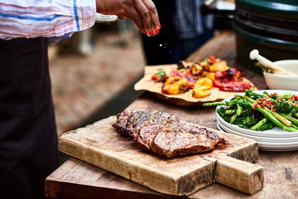 freshly cooked steak ready for dinner