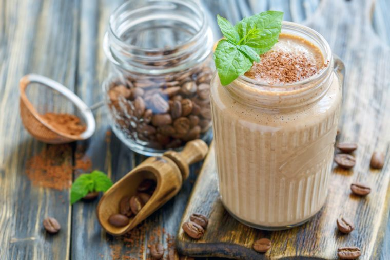coffee smoothie in a glass