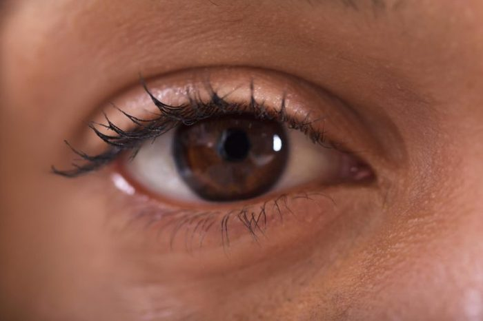 Closeup image of a brown eye.