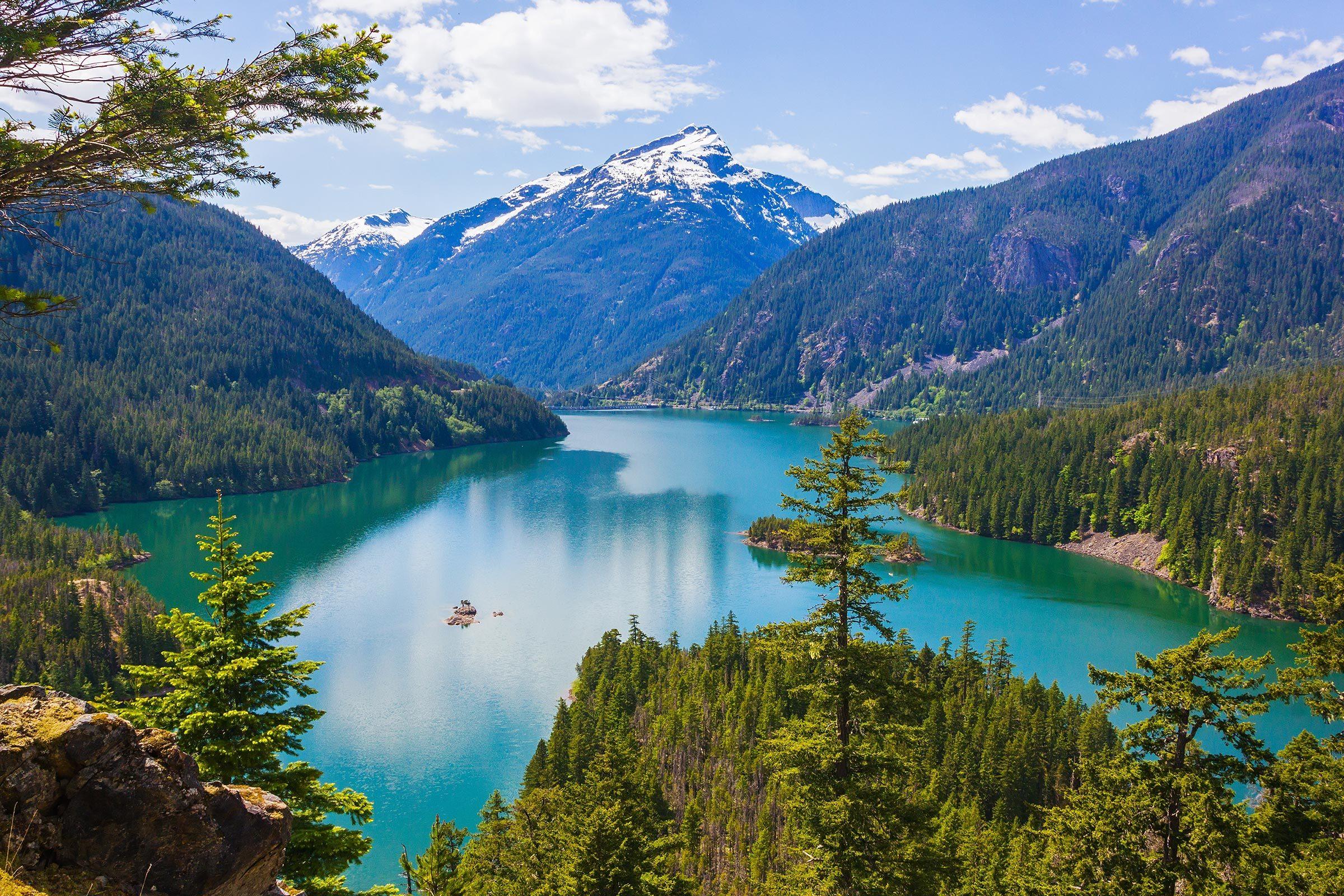 Diablo lake. North Cascades National Park, Washington, USA