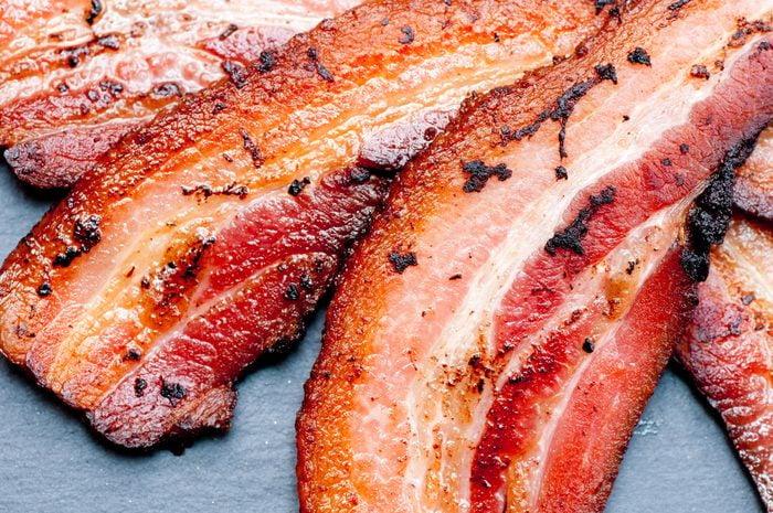 crispy organic heritage smoked bacon from a local organic farm