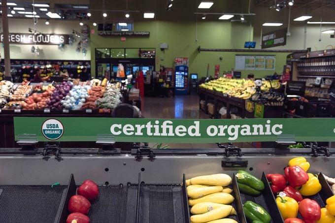 Certified USDA Organic produce