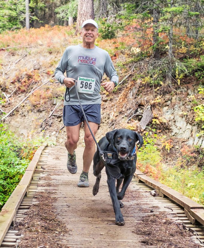 O'Grey is now training for marathons with his new workout pal, Jake.