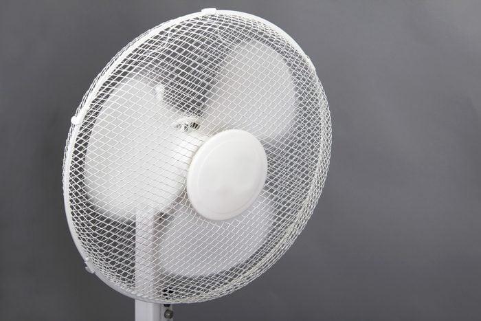 The picture is ventilation fan. Ventilation fan is spinning.