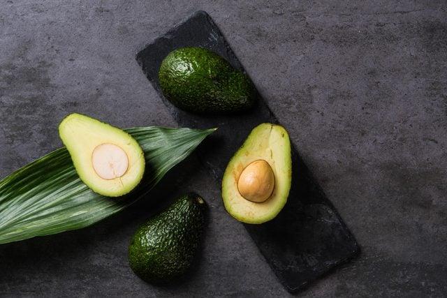 Fresh avocado on table