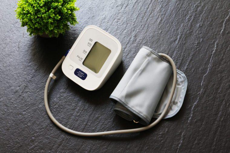 blood pressure cuff and monitor
