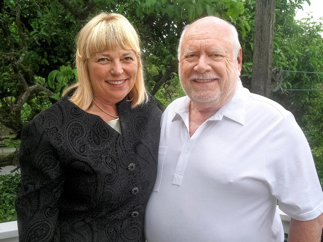 The author and his wife, Pat, who nursed him through his recovery