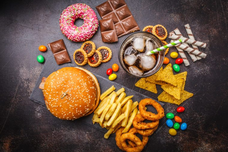 junk food and processed foods