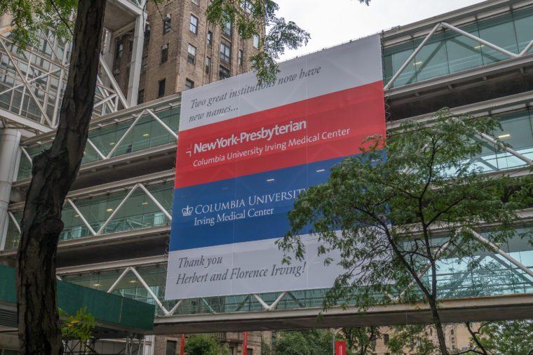 New York Presbyterian hospital and medical center