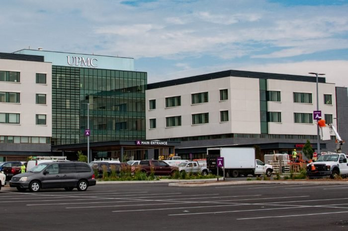 York, PA / USA - July 22 2019: The new UPMC hospital under construction