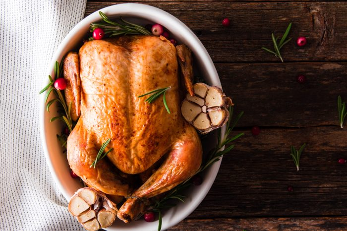 roasted turkey with cranberries