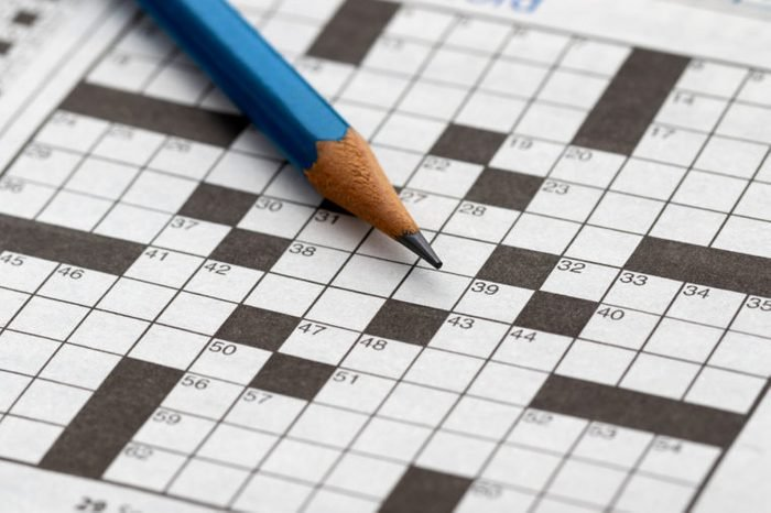 Crossword Puzzle with pencil