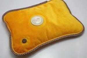 Orange heating pad