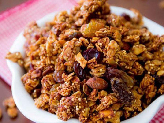 Apple Spice Quinoa Granola
