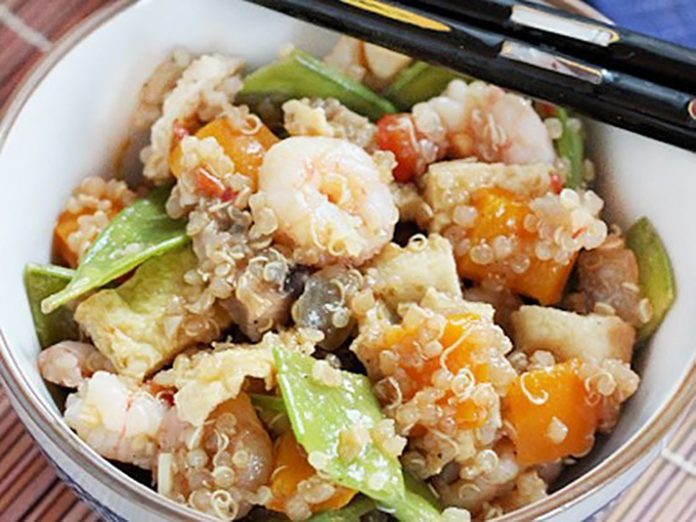 Shrimp And Vegetable Quinoa Fried Rice