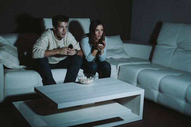 couple couch scary movie