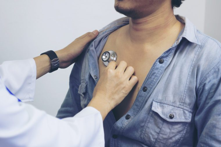 doctor checkup man chest