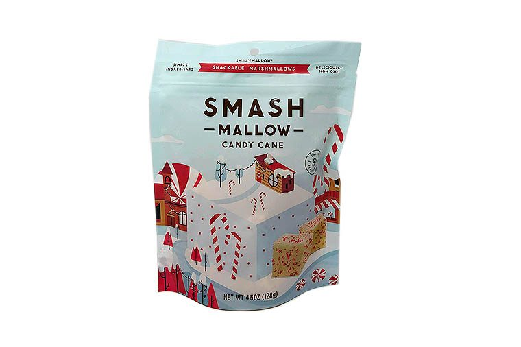 Smashmallow Candy Cane Marshmallows with Organic Cane Sugar