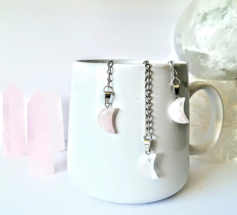 crescent moon crystal infuser tea strainer