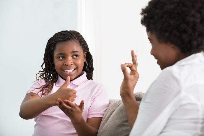 black child sign language