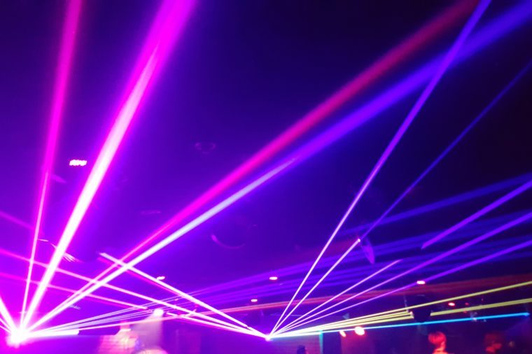 lasers in a nightclub