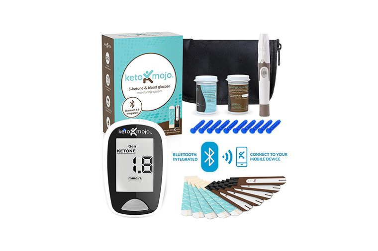 KETO-MOJO Bluetooth Blood Ketone and Glucose Testing Kit