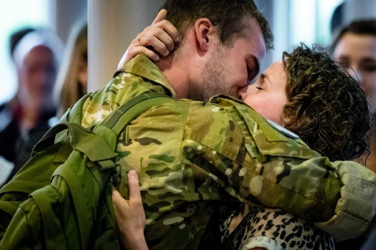 Soldiers are reunited with their loved ones
