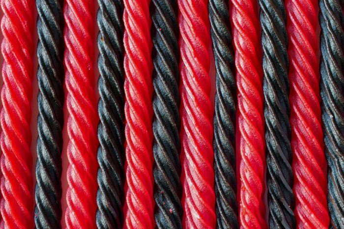 red and black licorice