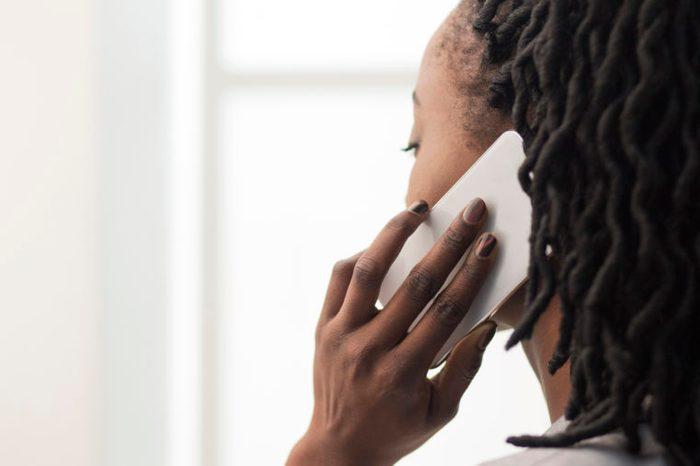 woman talking on cellphone